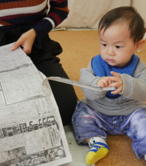 新聞ビリビリ~~~雨の日も楽しく遊ぼう♪ベビーサインレッスンレポ